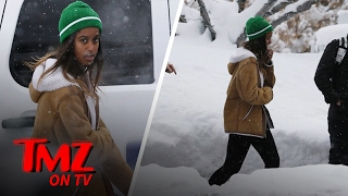 Barack Obama Is On Vacation But Malia Obama Is Putting In Work! | TMZ TV