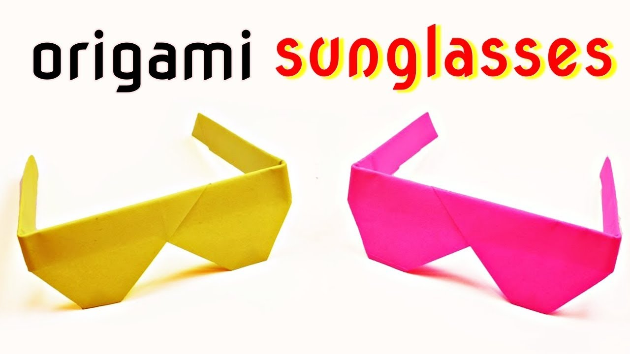 Sun Glasses / Cooling Glasses from A4 sheet - DIY Origami Tutorial ... | 720x1280