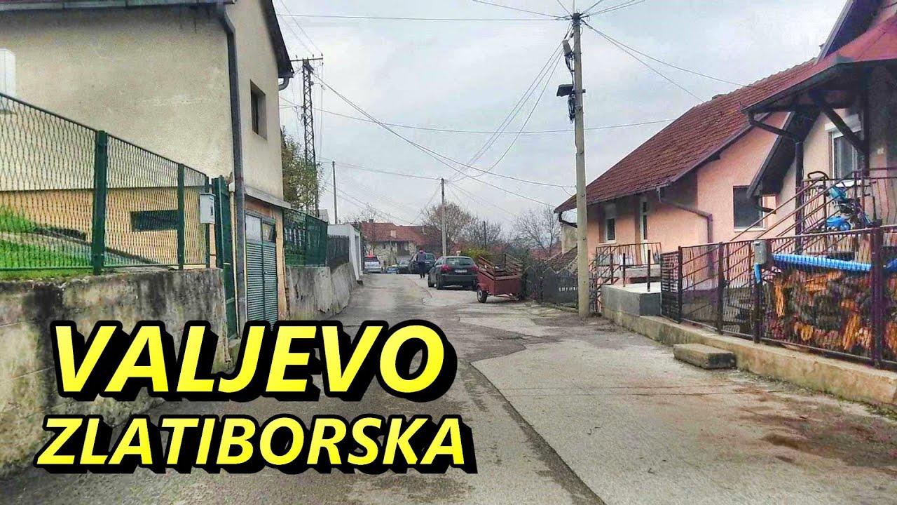 Valjevske ulice:  Zlatiborska. Valjevo ulica Zlatiborska