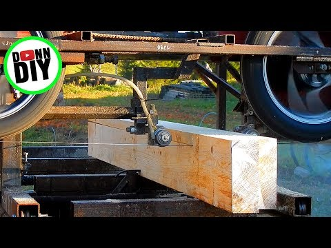 Sawmilling Workshop Wooden Frame Wall Material - Band Sawmill Build #26