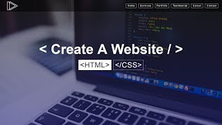 How To Create A Website Using HTML & CSS Step by Step Website Tutorial