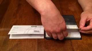 How To Use A Checkbook Cover - Ben Wynkoop