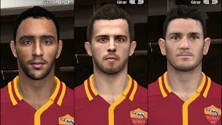 PES 2014 • Pjanić ○ Florenzi ○ benatia # AC Roma FacePack Download • HD Thumbnail