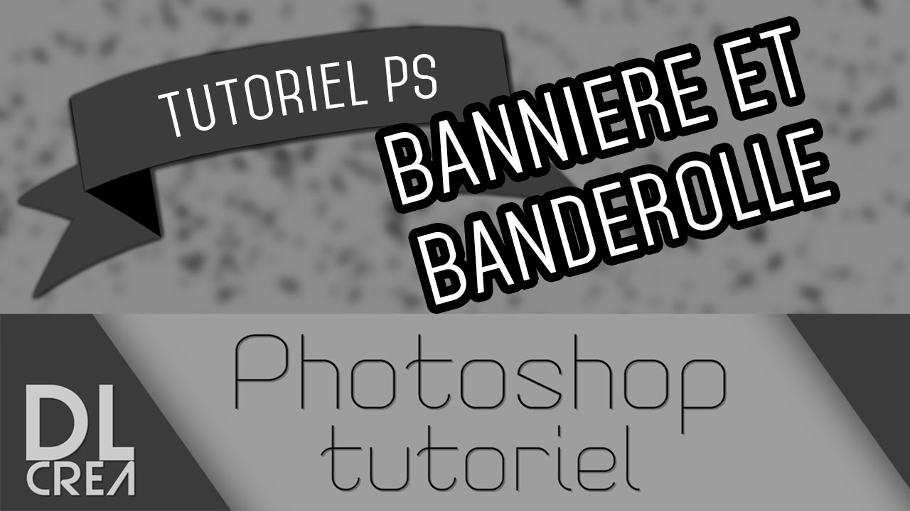 Tutoriel photoshop 2 banni re banderole ruban - Dessin banderole ...