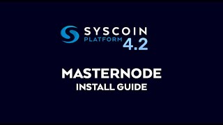 Syscoin LUX - Masternode Install Guide