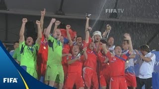 Russians celebrate historic final upset