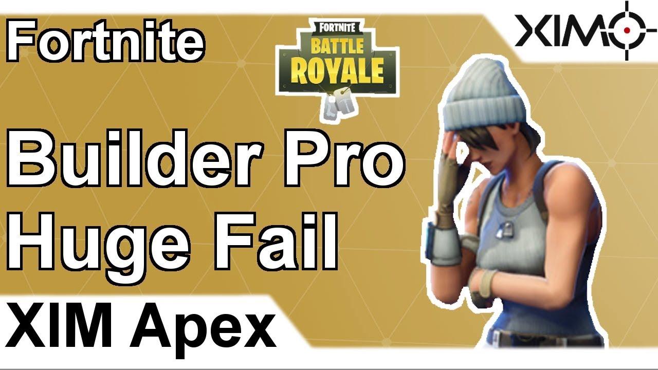 XIM APEX - Fortnite Builder Pro Huge Fail (PS4)
