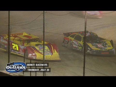 Highlights: World of Outlaws Late Model Series Quincy Raceways July 23rd, 2015