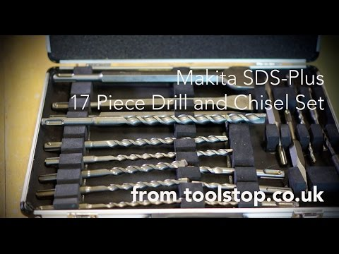 Makita D 21200 SDS Plus 17 Piece Drill and Chisel Set from Toolstop
