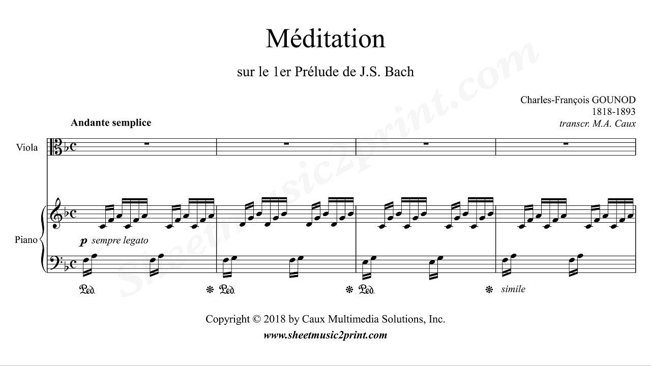 Gounod-Bach : Ave Maria - Meditation - Viola