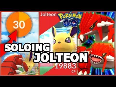 Download Youtube: JOLTEON RAID SOLO IN POKEMON GO | WEATHER BOOSTED GROUDONS DESTROY JOLTEON RAID