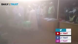 Buhari,  Aisha in high spirit as they cast their votes