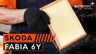 Schimbarea filtru de aer motor la SKODA FABIA 6Y TUTORIAL | AUTODOC