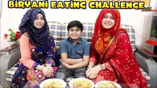 Biryani Eating challenge 🥴Me Vs bhabhi & Bhanja 😂