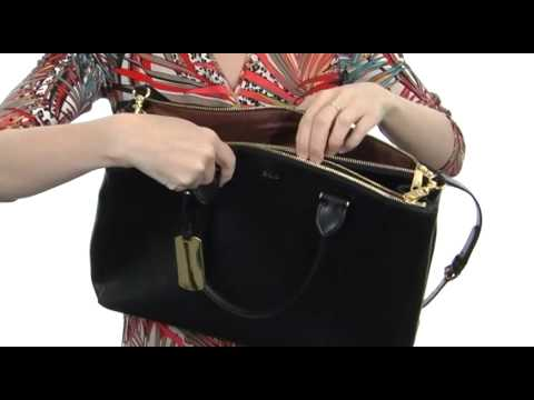 LAUREN Ralph Lauren Newbury Double Zip Satchel SKU  8233568 - YouTube 6b52d57eb0e53