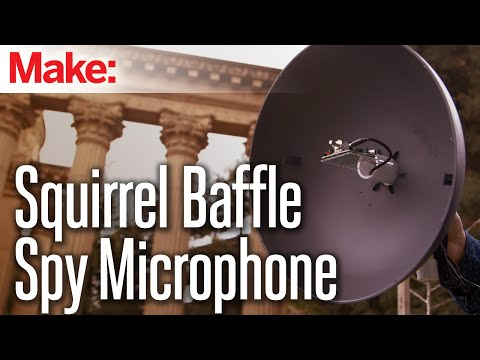 Weekend Projects - Squirrel-Baffle Spy Microphone