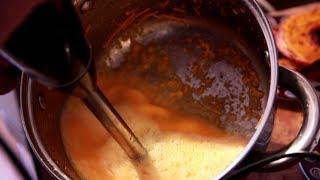 Сок из сырой тыквы обычным погружным блендером