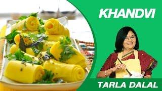 Repeat youtube video Khandvi Recipe by MasterChef Tarla Dalal   Gujarati Delicacy