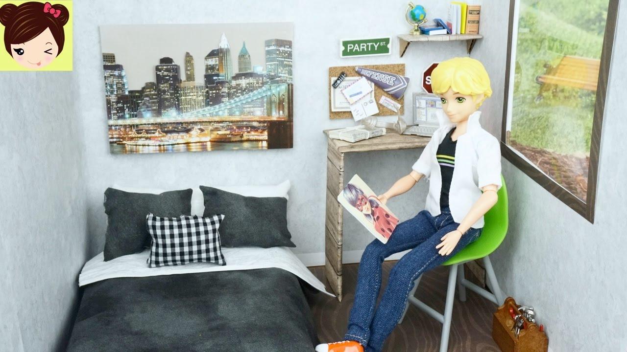 Nueva habitacion de adrien cat noir mu eco barbie ken for Pared de habitacion decorada
