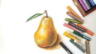 오일파스텔 | 과일그림3 | 서양배 그리기 | oilp…