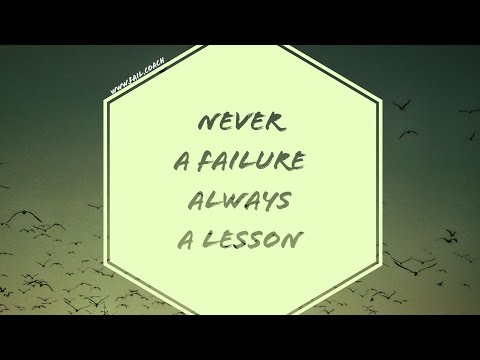 How to use failure as a learning experience