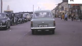 Driving In 1960s Redcar, North Of England