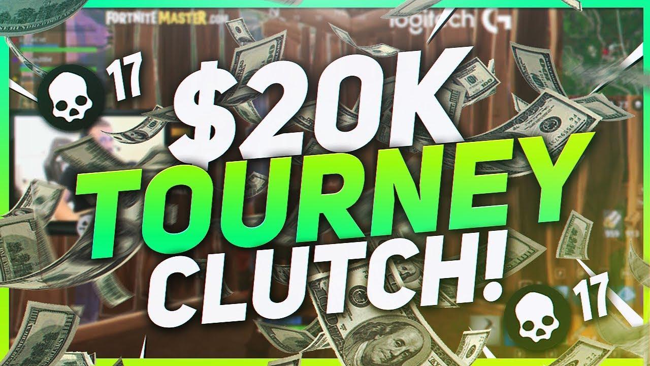tsm hamlinz 17 kill clutch in 20 000 umg tournament ft myth fortnite br full game - umg fortnite tournament