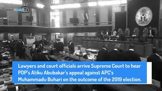 Lawyers, court officials arrive Supreme Court to hear Atiku's appeal against Buhari