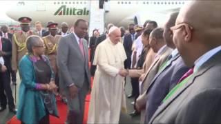 POPE FRANCIS ARRIVES IN KENYA