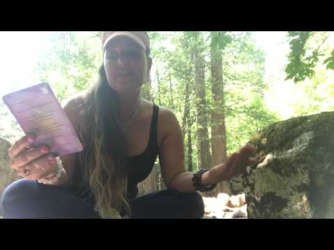 Quartz Crystal with Angel Card Reading in Yosemite
