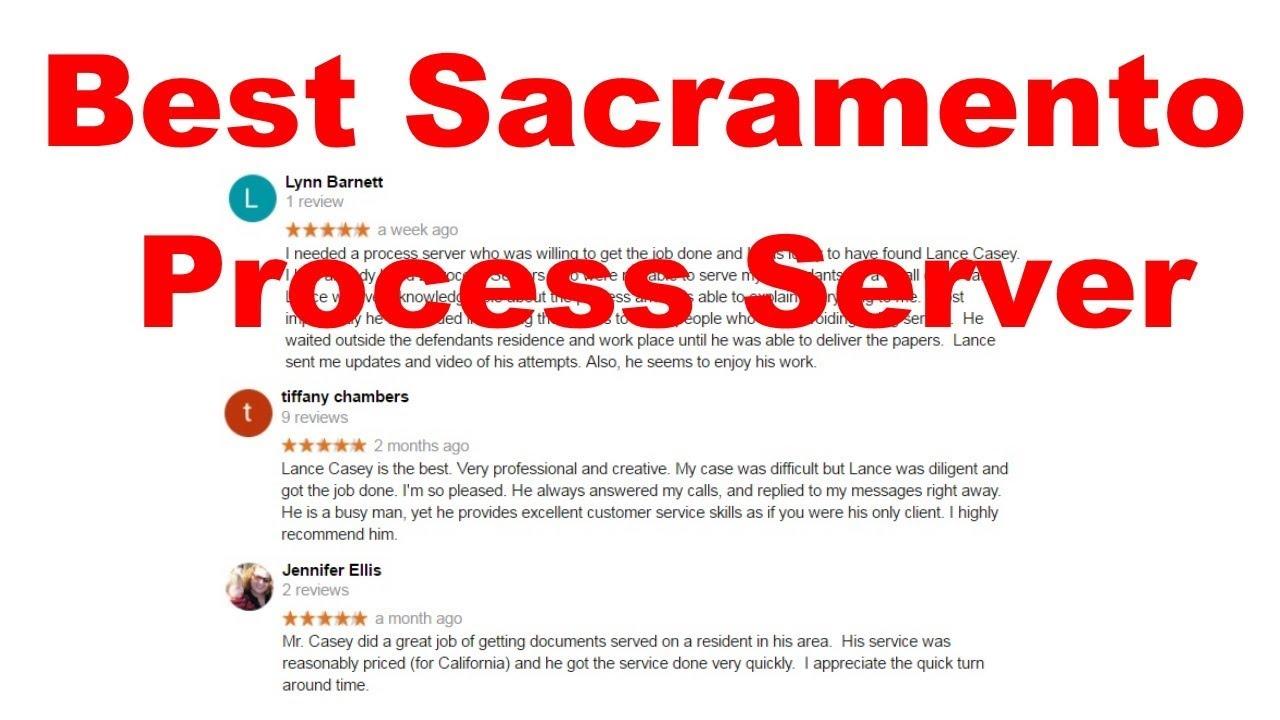 Disclaimer: Process Server Sacramento CA 95652