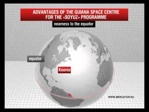 The «Soyuz» rocket launch from the Guiana Space Centre programme