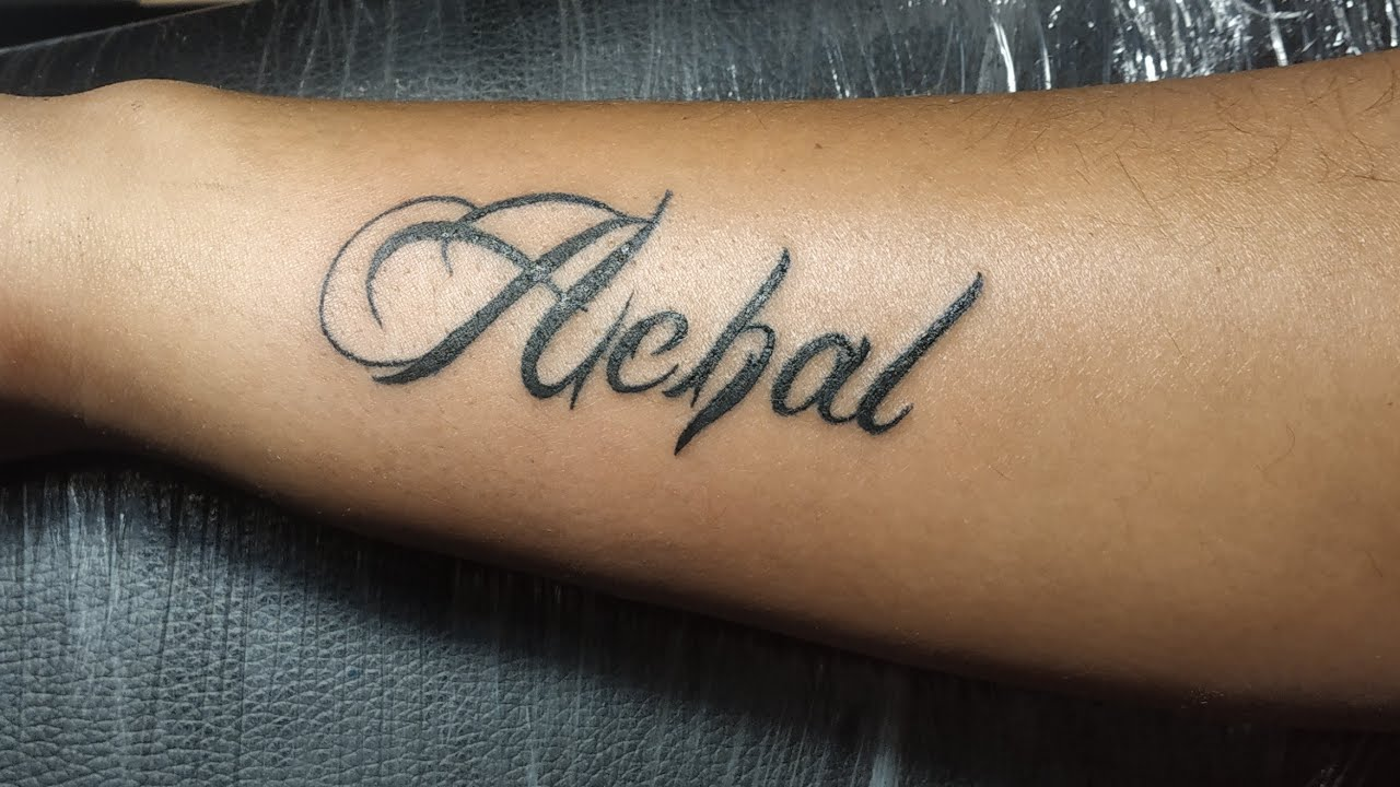 Achal name Tattoo Time Lapse  Mr Nobody - YouTube