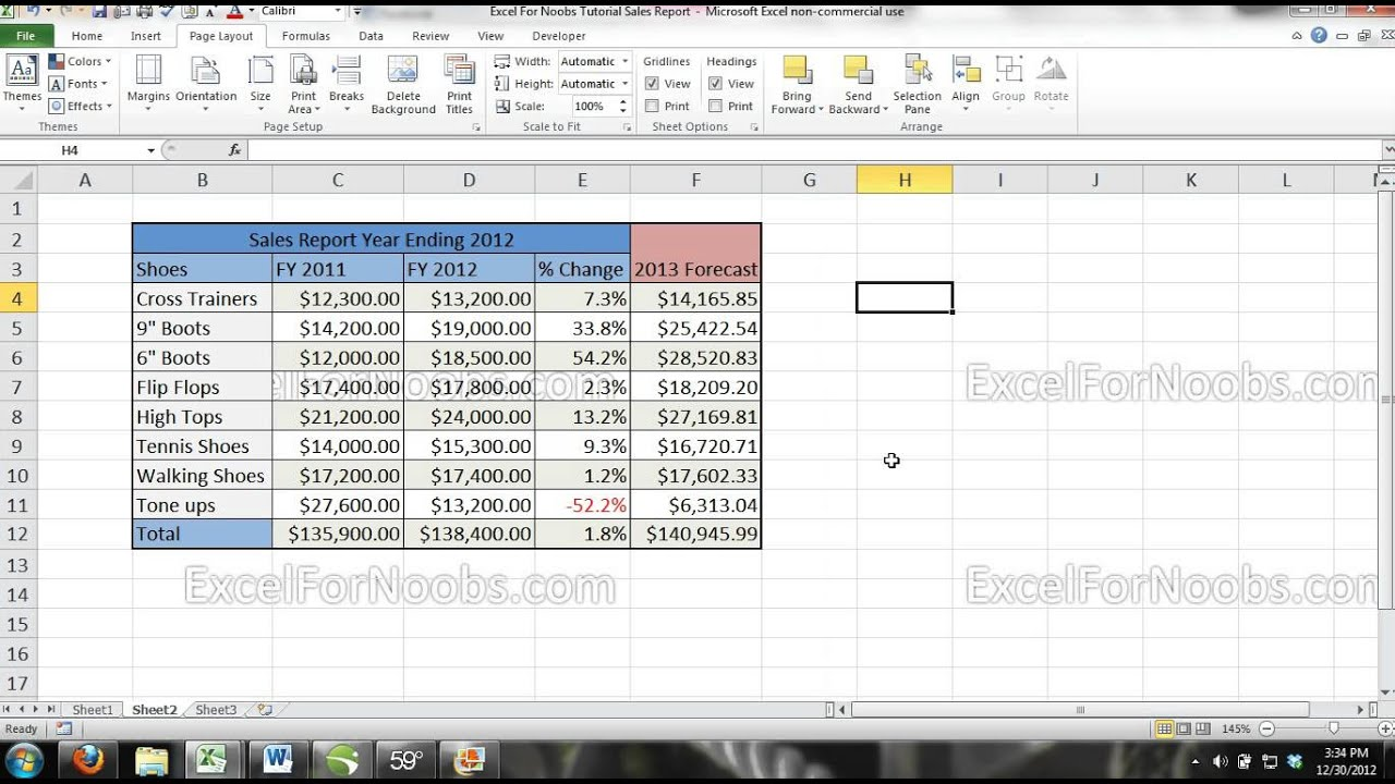 Background image excel - Excel Tutorial How To Add A Background Image Or Company Logo To Your Excel Workbook 2007 2010 2013 Youtube