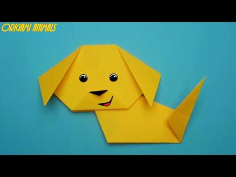 How To Make A Dog Out Of Paper. Origami Dog. Origami Animals