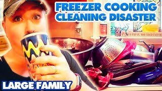 Freezer Cooking CLEANING DISASTER | Power Hour Kitchen Clean With Me