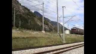 Europe Rail 2002  SBB Brig-Visp BLS klassische E-lok Ae8/8(Ae485) !! Lötschberg-Basistunnel Bau zug