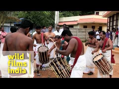 Chenda Melam during Mother Mary Feast Day in Kerala