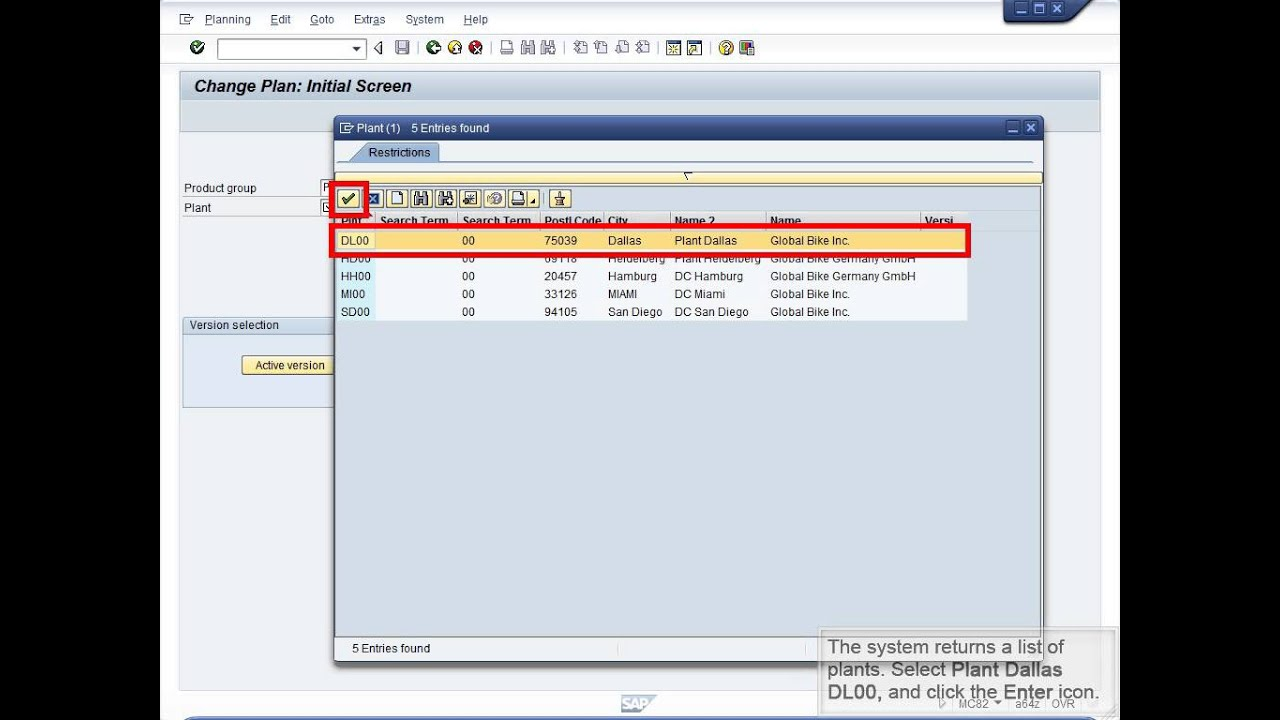 Demo 8 3 Create a Production Plan in SOP