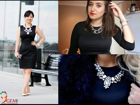 Statement Necklace With Black Dress