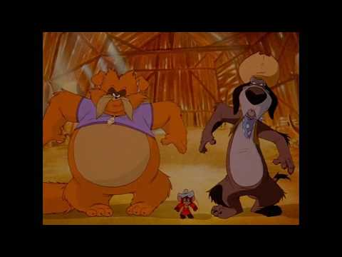 An American Tail II: Fievel Goes West Wylie Burp Teaches Tiger To Be A Dog