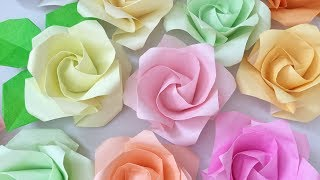 【折り紙】[難]×2   再び「1分ローズを折ってみた」【Origami】1minute Rose