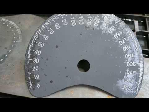 Tube Bender Part 2 Making the Degree Wheel