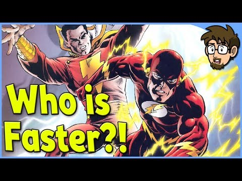 Theory: Is The Flash Faster than Shazam/Captain Marvel?!