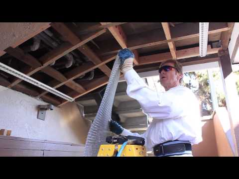 Install metal mesh netting on soffit ceiling installation