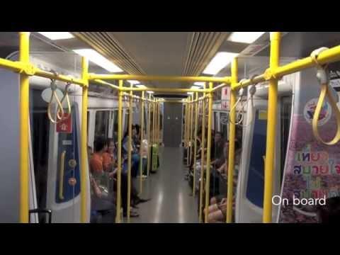 From Suvarnabhumi Airport to central Bangkok, by train and subway