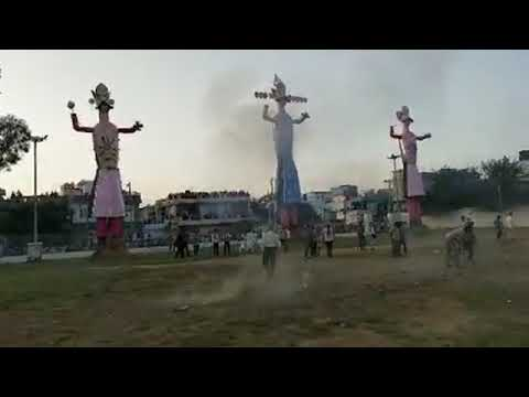 """Ravan Dahan"" at dussehra ground"
