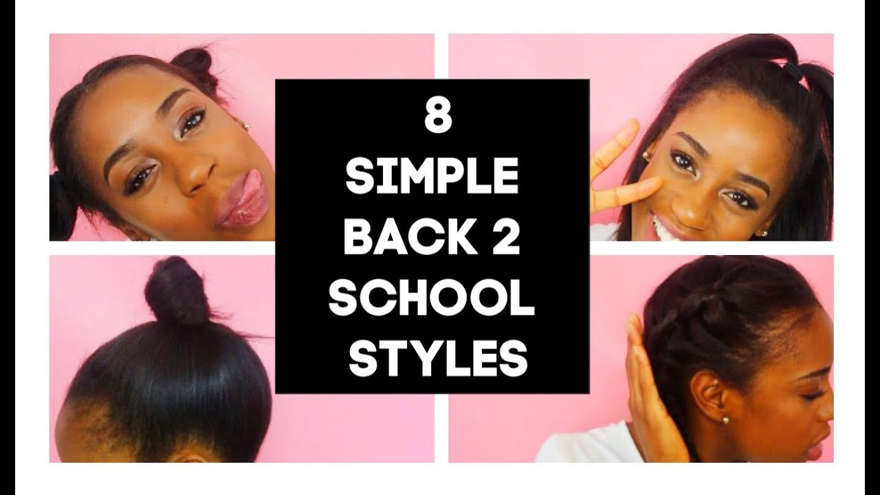 8 Simple Back 2 School Hairstyles For Short Straight Hair Bts