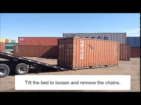 Moving a Shipping Container (without a forklift or crane)