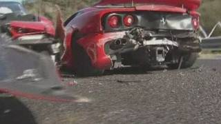 Super car pile-up in Japan is 'world's most expensive crash'